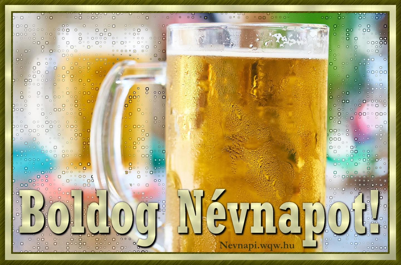 sörös névnapi képek Korsó sör színes háttérrel, névnapi kép férfiaknak   Zenés névnapi  sörös névnapi képek