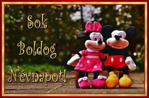 Minnie és Mickey egér névnapi kép