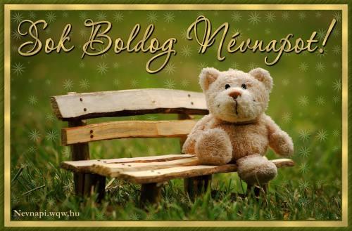 Teddy macis névnapi kép gyerekeknek