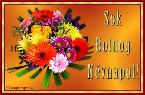 Virágcsokor vegyes virágokkal névnapi kép nőknek