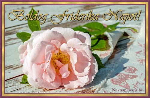 Friderika névnapi kép